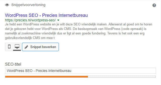 WordPress seo titel ingeven